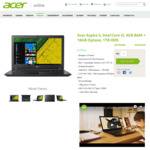 """Acer Aspire 5:15.6"""" i3, 4GB RAM + 16GB Optane, 1TB HDD for $649 (Was $799) + Free Shipping @ Acer Online Store Australia"""