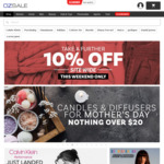 Extra Min. 10% off & Free Shipping Site Wide (up to 90% off RRP) @ OzSale