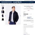 100% Wool Blouson Jacket $99.95 (XL & XXL) + Delivery (Free for Orders over $100) @ Gazman