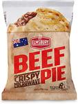 Elmsbury Crispy Microwave Beef Pie 200g or Sausage Roll 175g $0.99 (Was $1.69) / White Mill Pancake Shake 375g $0.99 @ ALDI