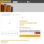 Samsonite Octolite Hardside Cases (Black) Delivered $115-$199 (over 60% off) @ Luggage Gear