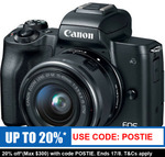 Canon EOS Mirrorless M50 15-45MM Kit $678.40 Delivered @ Camera Store eBay