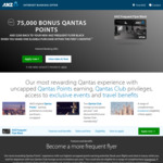 ANZ Frequent Flyer Black Visa (75,000 Bonus Qantas Points and $200 Cash Back after One Purchase) - $425 Annual Fee