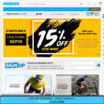 15% off Sitewide (Exclusions Apply) @ Pushys