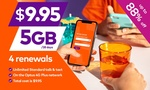 Four Renewals of amaysim Unlimited 5GB Mobile Plan with 28-Days Expiry $6.97 (New Customers Only) @ Groupon