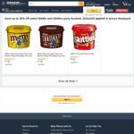 M&M's & Skittles Bucket Varieties (575g - 720g) $7.50 + Delivery ($0 with Prime/$39 Spend) @ Amazon AU