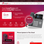 Free Grandstream GRP2612P + $10 Postage with 24 Month Phone Plan (Min. Cost $608.80/24months) @ Crazytel