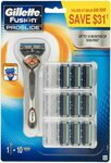 Gillette Fusion Proglide Flexball Value Pack, Razor Handle with 10 Cartridges $32.50 Subscribe & Save @ Amazon