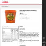 ½ Price Reese's or Hershey's Tub 473mL, Sticks or Cones 4 Pack $4.25, Allen's Medium Bag 150g-200g $1.50 @ Coles