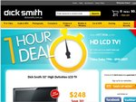 """Dick Smith 32"""" HD LCD TV $248 Delivered! - 1 Hour Deal: 7pm-8pm AEST"""