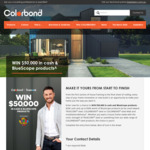 Win $20,000 Cash & $30,000 Worth of BlueScope Products from Colorbond