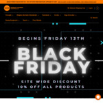 Black Friday - 10% off Store Wide @ World Fitness