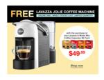 Lavazza A Modo Mio Qualita Coffee Capsules 96pk + Free Lavazza Jolie Coffee Machine $49.99 Delivered @ Costco (Membership Req)