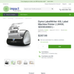Dymo 4XL LabelWriter Printer $287.98 Delivered @ Impact Office Supplies
