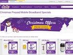 Dodo Xmas Specials - $25 for 8/16GB Prepaid Mobile Broadband Data, 180 Days Expiry