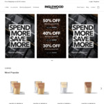 50% off $100+ Spend / 40% off $80-$99 Spend / 30% off $60-$79 Spend (Equipment Excl) $0 VIC Delivery @ Inglewood Coffee Roasters