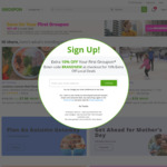 Groupon up to 30% off Sitewide ($30 Cap) + ShopBack up to 20% Cashback ($25 Cap)