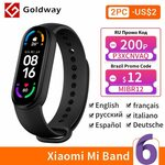 Xiaomi Mi Band 6 Fitness Tracker US$42.19 (~A$54.73) Delivered @ Hong Kong Goldway AliExpress