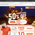 Minimum 50% off Everything, Save $10 with $80 Spend + Free Shipping @ Giordano