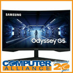"""[Afterpay] 27"""" Samsung Odyssey G5 LC27G55TQWEXXY WQHD 144Hz VA Curved Monitor - $254.15 Delivered - Computer Alliance eBay"""