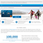 Citi Rewards Credit Card: 100,000 Bonus Velocity Points ($3000 Spend within 90 Days/ $99 First Year Annual Fee) @ Citibank