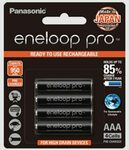 Panasonic AAA Eneloop Pro Rechargeable Batteries, 4-Pack $19.75 ($17.78 w/ S&S) + Delivery ($0 with Prime/ $39 Spend) @ Amazon
