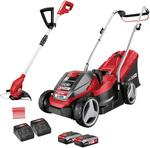 Ozito PXC 2x18V Cordless Lawn Mower & Grass Trimmer Kit $199 + Delivery ($0 C&C/ in-Store) @ Bunnings