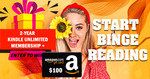 Win A 2-Year Kindle Unlimited Membership + A$100 Amazon Gift Card