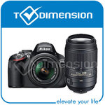 AU $641.89 Nikon D5100 with 18-55mm and 70-300mm Twin Lens Kit + 1 Year Warranty + Free Shipping