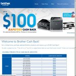 Brother Printers Upto $100 Cash Back
