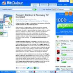 Paragon Backup & Recovery 12 Compact Free from Bitsdujour