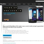 BlackBerry Z10 Cashback $100 + Tradein Old Phone