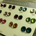 3 Pairs Swarovski Element Crystal Ear Studs with Tag Choose from 14 Colour Only $5 FREE SHIPPING