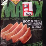 Smiths Maxx Hot & Spicy Chicken Wings Flavoured Chips $4.25 down to 50c. Big W Brookside QLD