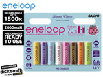 Eneloop Tropical AA Rechargeable Batteries 8-Pack $20 + Postage (Catch of the Day offer)