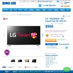 "LG 55"" LCD LED TV 55LB5820 $966 Inc Delivery @ Bing Lee"
