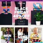 Happy Socks Black Friday Sale 40% off All Orders and Free Shipping
