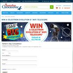 "Win a Celestron Evolution 6"" Wi-Fi Telescope (Valued at $2799.95) from Australian Geographic"