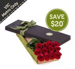 12 Red Roses in a Presentation Box $59.95 Delivered (Was $79.95) [VIC Only] @ Fresh Flowers
