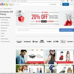 eBay - 20% off on Select Retailers - MAX Discount $1000 Per Txn (Excl. Postage) - 5 Txn Pp