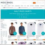 50% off Casual & Formal Shirts (Shirts from $25.50 with Deal) @ Moss Bros