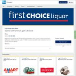 AmEx Statement Credit: First Choice Liquor Online ($30 for $100 Spend)