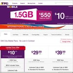 $10 Per Month TPG SIM Only Mobile Plan (Limit 6 Months) No Lock-in Contract (Was $19.99 P/Month)