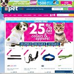25% off Dog & Cat Leads, Collars and Clothes @ PETstock