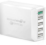 Blitzwolf BW-S7 Quick Charge 3.0, 40W, 5 Port USB Desktop Charger, USD $19.99 (~AUD $29.29) Shipped @ Banggood (PRE ORDER)
