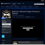 PS4 Batman Arkham Knight $24.95 Premium Ed. $39.95 @ AU PSN store
