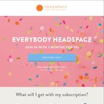 Headspace Meditation 3 Months for USD $0.99/~AUD $1.35 (USD $12.95/~AUD $17.49 after)