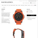Nixon Mission SmartWatch (Orange) - $449.99 @ David Jones (Online and in-Store). Further 10% off if Paying with a DJ Credit Card