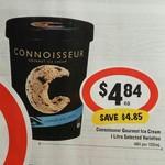 ½ Price Connoisseur Ice Cream Tubs 1L $4.84 @ IGA Starts 25/1