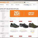 20% off Selected Shoes @ Merrell Australia